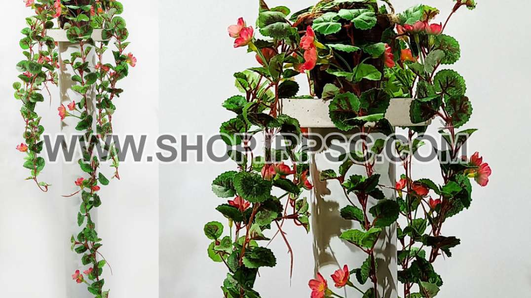 گل آویز مصنوعی شمعدانی صورتی | ریسه صورتی رونده | گل صورتی مصنوعی