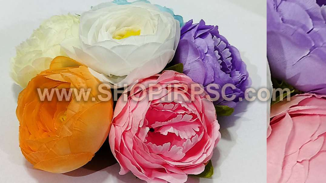سر گل پیونی بزرگ مصنوعی | گل مصنوعی پیونی | تک گلهای رنگی