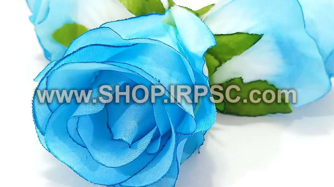 سرگل مصنوعی غنچه رز آبی روشن   غنچه آبی رز   گل مصنوعی پخش عمده