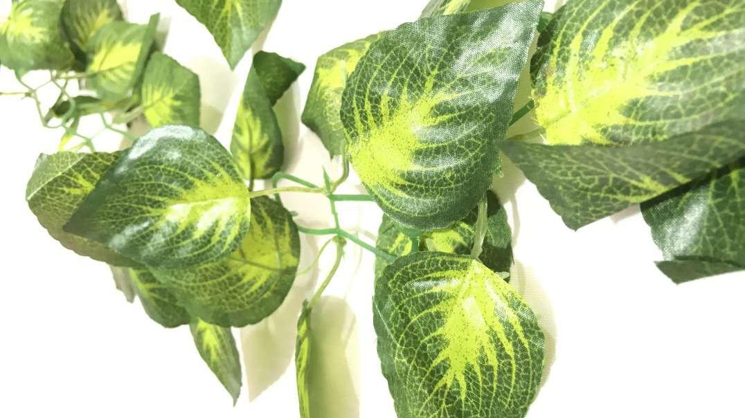 گل مصنوعی آویز | ریسه مصنوعی برگ | برگ سبز رونده