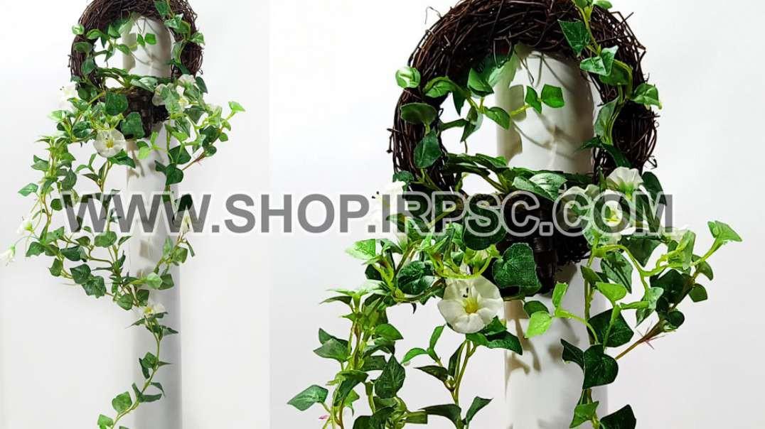 حلقه آویزی اطلسی سفید   حلقه آویزی مصنوعی   ریسه سفید