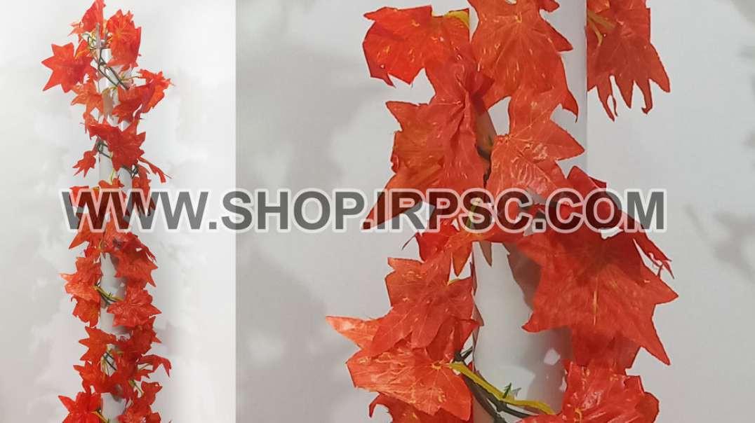 ریسه برگ پاییزی برگ بزرگ | پیچک مصنوعی پاییز | گل آویز نارنجی
