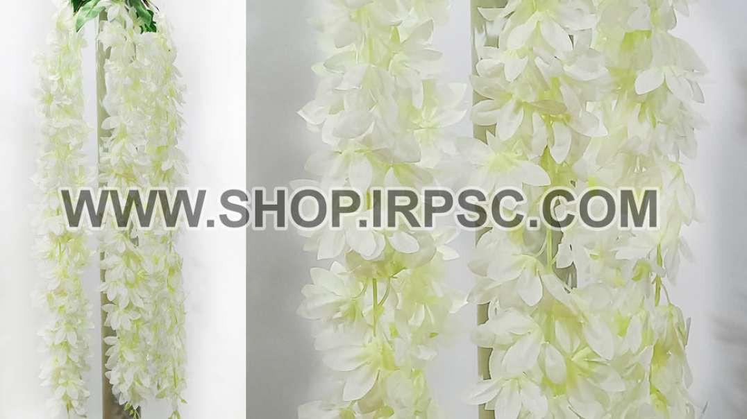 گل مصنوعی آویزی اقاقیا سفید   پیچک اقاقیا مصنوعی   ریسه سفید
