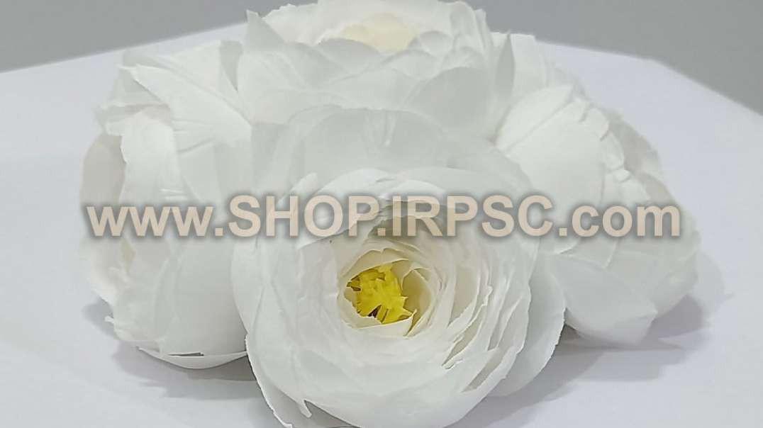 سر گل پیونی متوسط | گل مصنوعی پیونی | گلهای سفید مصنوعی