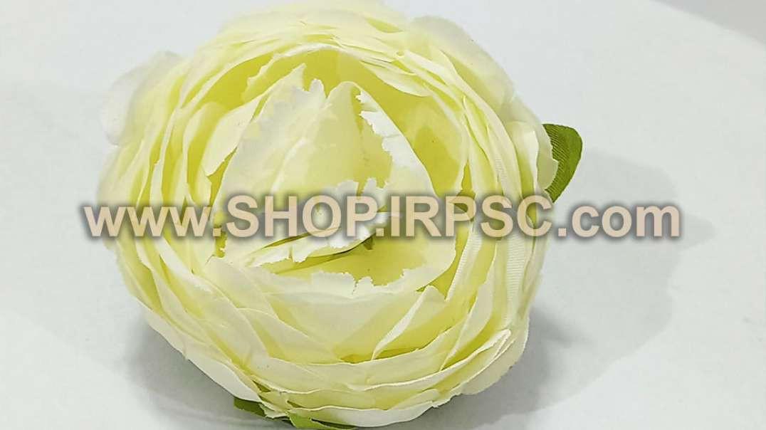 سرگل پیونی مصنوعی بزرگ سفید | پیونی سفید رنگ | گل مصنوعی