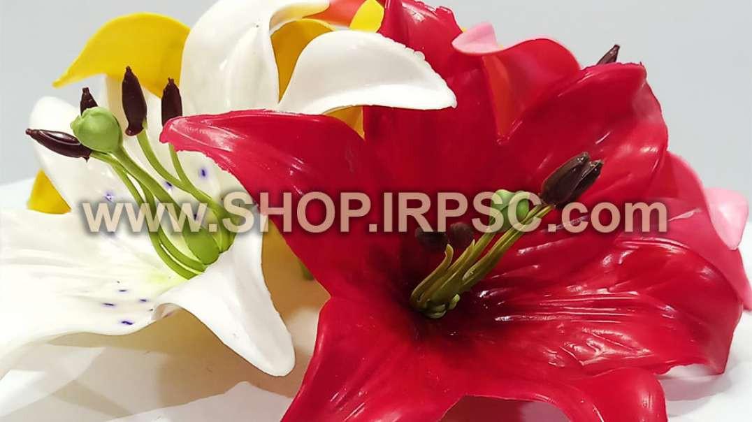 سرگل مصنوعی اورینتال رنگی چرمی   گل اورینتال   گل مصنوعی چرمی فروش عمده