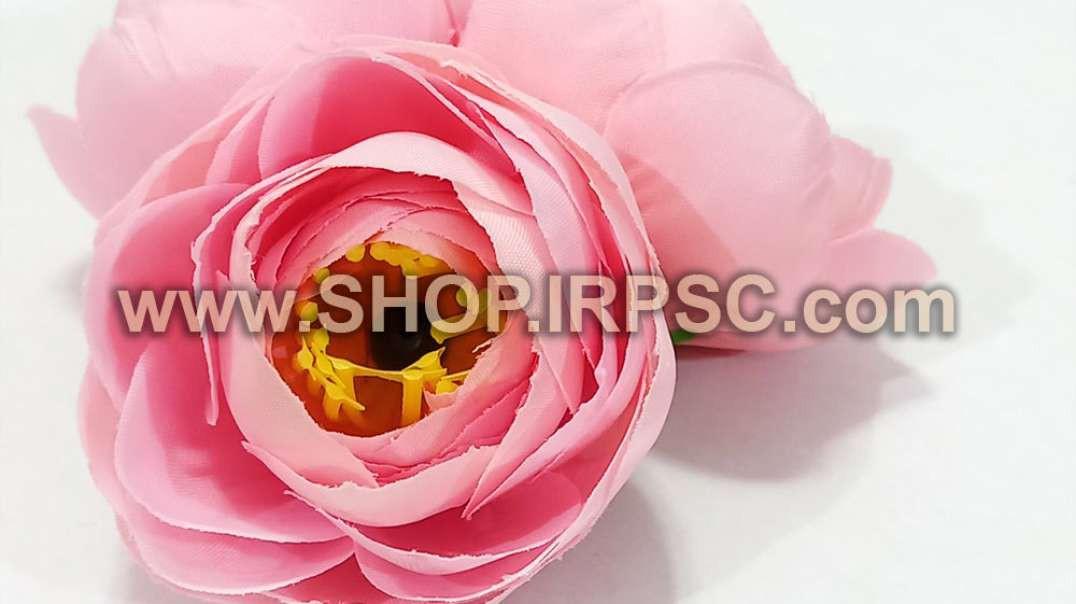 سرگل پیونی مصنوعی کوچک صورتی | گل پیونی صورتی | گل مصنوعی