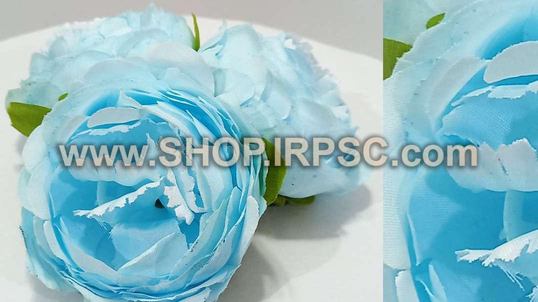 سرگل پیونی مصنوعی بزرگ آبی | پیونی آبی کمرنگ | گل مصنوعی