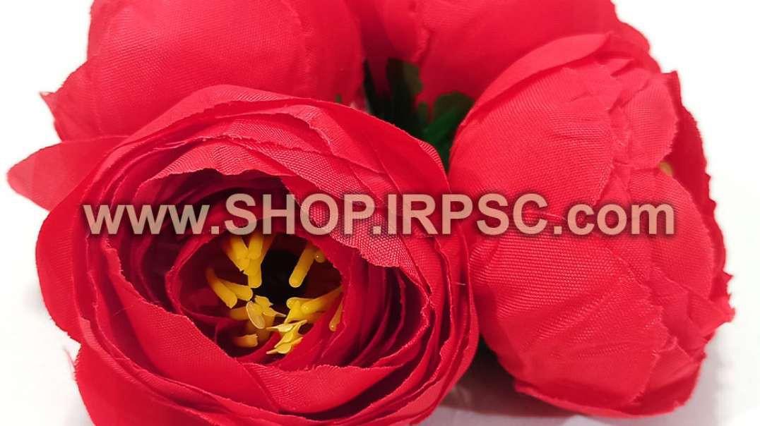 سرگل پیونی مصنوعی کوچک قرمز | پیونی قرمز | گل مصنوعی