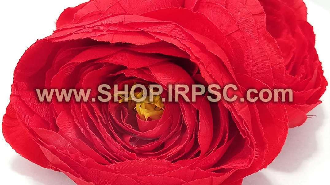 سرگل آنوما مصنوعی سوپر قرمز | گل آنوما قرمز | گل مصنوعی