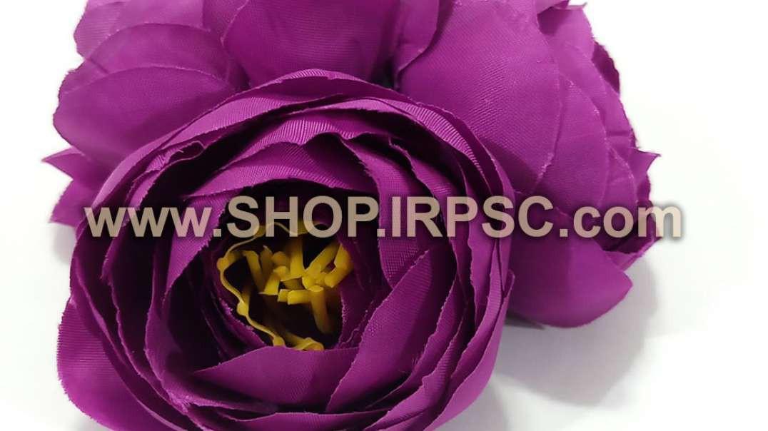 سرگل پیونی مصنوعی کوچک بنفش | گل پیونی بنفش | گل مصنوعی