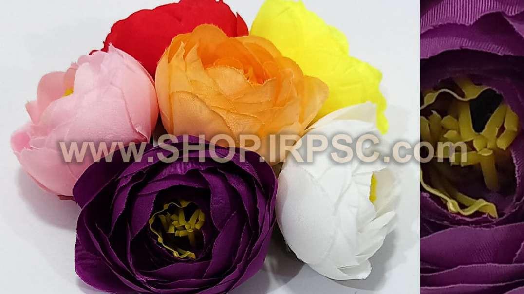 سر گل پیونی کوچک | گل مصنوعی پیونی رنگی | تک گلهای رنگی