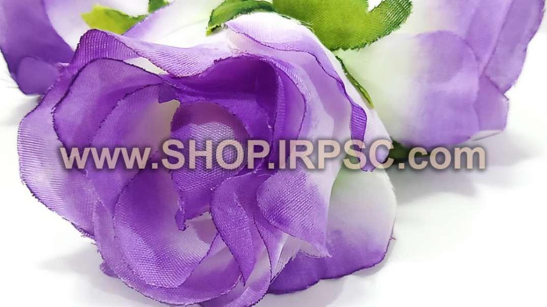 سرگل مصنوعی غنچه رز بنفش   غنچه صورتی رز   گل مصنوعی بنفش پخش عمده