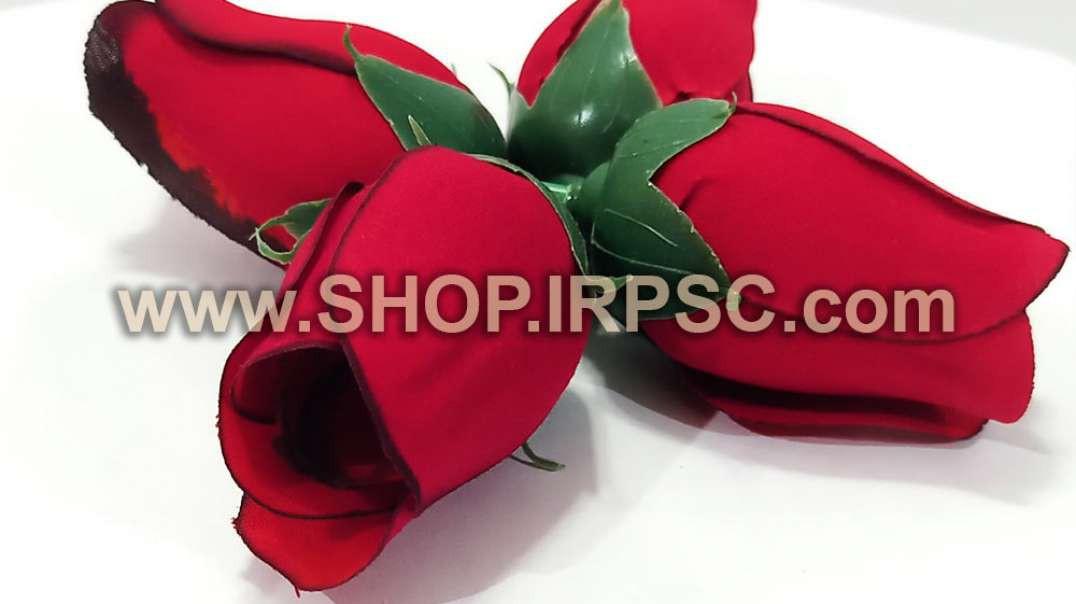 سرگل مصنوعی غنچه رز قرمز مخمل مصنوعی   غنچه رز قرمز   گل مصنوعی مخمل پخش عمده